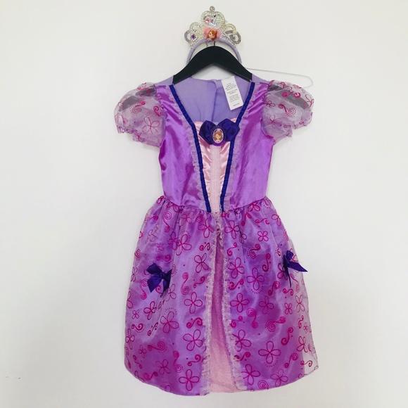 Disney Princess Sofia Costume Haloween Dress Tiara & Disney Costumes | Princess Sofia Costume Haloween Dress Tiara | Poshmark